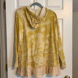 LOGO by Lori Goldstein Tops - Logo Lounge tie dye zip up hoodie